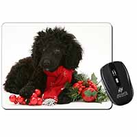 Christmas Poodle Computer Mouse Mat Birthday Gift Idea