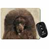Chocolate Poodle Dog Computer Mouse Mat Christmas Gift Idea