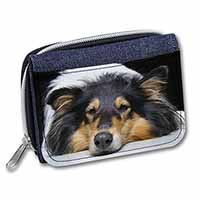 Tri-Colour Rough Collie Dog Girls/Ladies Denim Purse Wallet Birthday Gift Idea