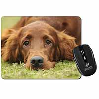 Irish Red Setter Puppy Dog Computer Mouse Mat Birthday Gift Idea