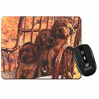 Irish Red Setter Puppy Dogs Computer Mouse Mat Birthday Gift Idea