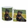 Rottweiler Dog Mug+Coaster Christmas/Birthday Gift Idea