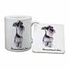 Schnauzer Dog-Love Mug+Coaster Christmas/Birthday Gift Idea