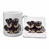 Miniature Schnauzer Dogs Mug+Coaster Christmas/Birthday Gift Idea