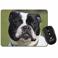 Black and White Staffordshire Bull Terrier Computer Mouse Mat Christmas Gift Ide