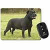 Black Staffordshire Bull Terrier Computer Mouse Mat Christmas Gift Idea