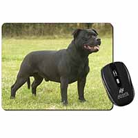 Black Staffordshire Bull Terrier Computer Mouse Mat Birthday Gift Idea