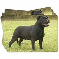 Black Staffordshire Bull Terrier Picture Placemats in Gift Box