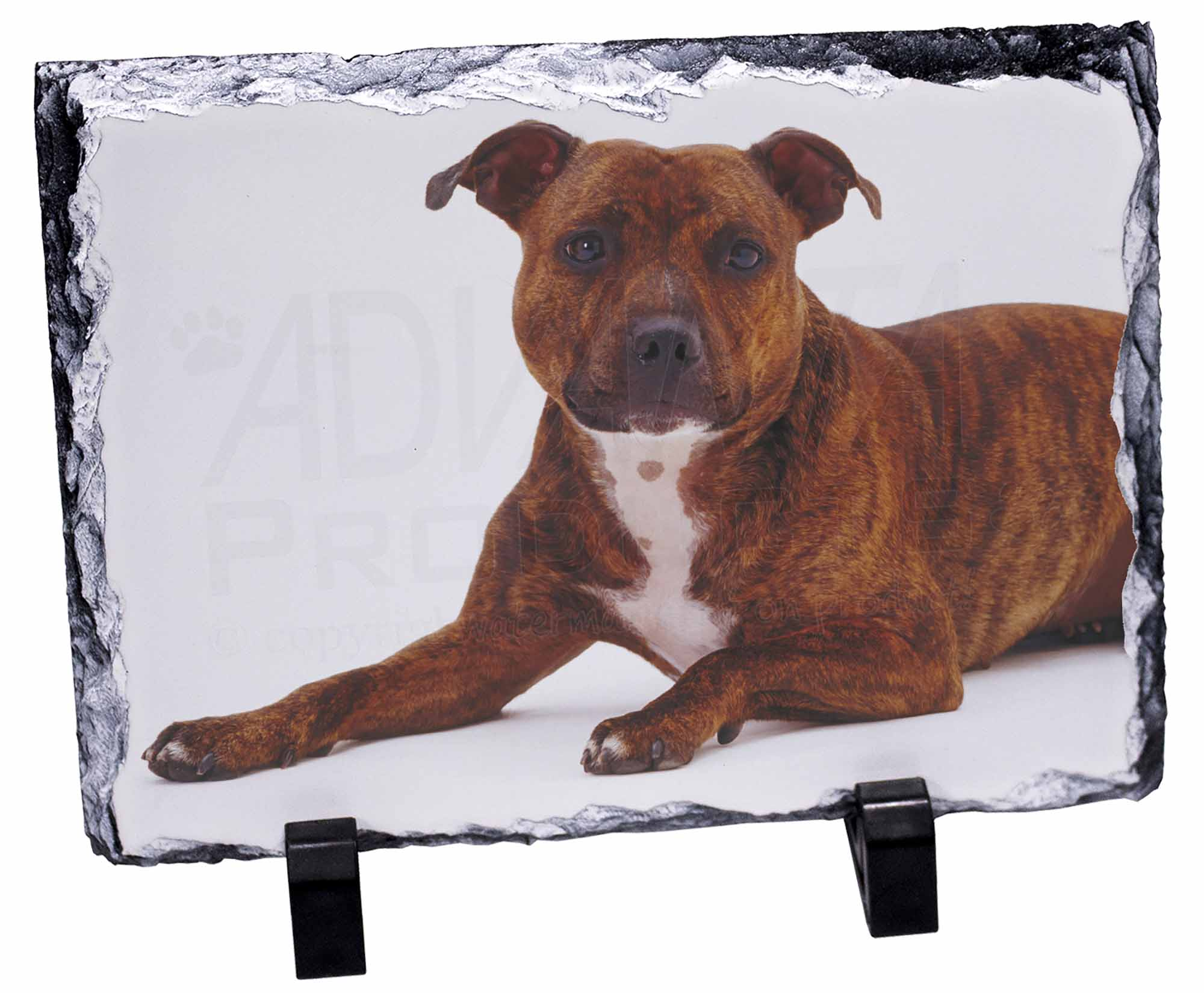 Brindle Staffy Staffie Bauble Christmas Tree Decoration Gift//Present