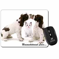 Cocker Spaniel and Kitten -Love Computer Mouse Mat Christmas Gift Idea