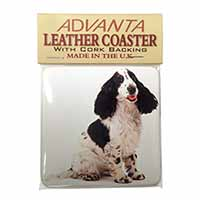 Cocker Spaniel Dog Single Leather Photo Coaster Perfect Gift