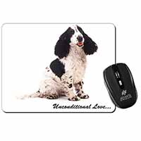 Cocker Spaniel With Love Computer Mouse Mat Birthday Gift Idea