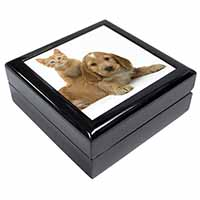 Cocker Spaniel and Kitten Love Keepsake/Jewellery Box Birthday Gift Idea