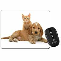 Cocker Spaniel and Kitten Love Computer Mouse Mat Birthday Gift Idea