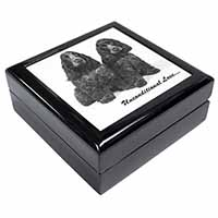 Cocker Spaniel Dogs-With Love Keepsake/Jewel Box Birthday Gift Idea