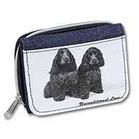 Cocker Spaniel Dogs-With Love Girls/Ladies Denim Purse Wallet Birthday Gift Idea
