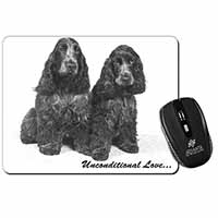 Cocker Spaniel Dogs-With Love Computer Mouse Mat Birthday Gift Idea