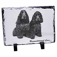 Cocker Spaniel Dogs-With Love Photo Slate Photo Ornament Gift