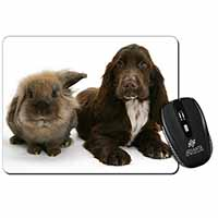Cute Cocker Spaniel Dog and Rabbit Computer Mouse Mat Birthday Gift Idea