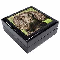 Chocolate Cocker Spaniel Dog Keepsake/Jewellery Box Birthday Gift Idea