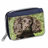 Chocolate Cocker Spaniel Dog Girls/Ladies Denim Purse Wallet Birthday Gift Idea