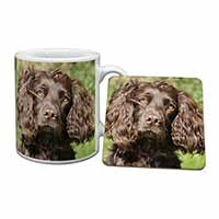 Chocolate Cocker Spaniel Dog Mug+Coaster Birthday Gift Idea