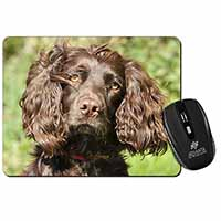Chocolate Cocker Spaniel Dog Computer Mouse Mat Birthday Gift Idea