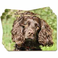 Chocolate Cocker Spaniel Dog Picture Placemats in Gift Box