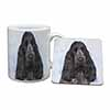 Blue Roan Cocker Spaniel Dog Mug+Coaster Christmas/Birthday Gift Idea