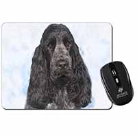 Blue Roan Cocker Spaniel Dog Computer Mouse Mat Birthday Gift Idea