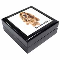 Gold Cocker Spaniel-With Love Keepsake/Jewellery Box Christmas Gift