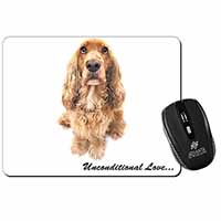 Gold Cocker Spaniel-With Love Computer Mouse Mat Christmas Gift Idea
