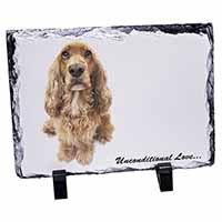 Gold Cocker Spaniel-With Love Photo Slate Christmas Gift Ornament