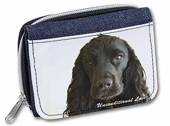 Cocker Spaniel-With Love Girls/Ladies Denim Purse Wallet Birthday Gift Idea