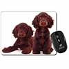 Chocolate Cocker Spaniel Dogs Computer Mouse Mat Christmas Gift Idea