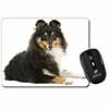 Tri-Col Sheltie Dog Computer Mouse Mat Christmas Gift Idea