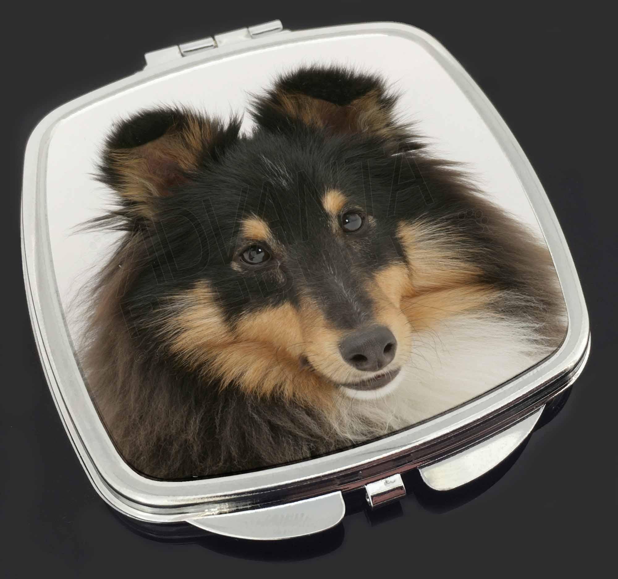 Shetland Sheepdog Dog I heart Chrome Metal License Plate Frame Tag Border