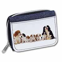 King Charles Spaniel Dogs Girls/Ladies Denim Purse Wallet Birthday Gift Idea