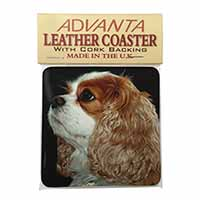 Blenheim King Charles Spaniel Single Leather Photo Coaster Perfect Gift