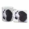 Tri-Colour King Charles Spaniel Dog Mug+Coaster Christmas/Birthday Gift Idea