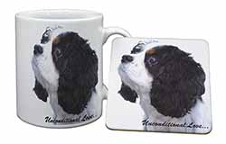 Tri-Col King Charles-With Love Mug+Coaster Birthday Gift Idea