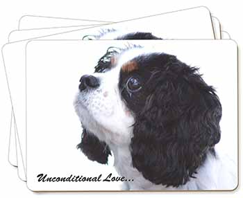 Tri-Col King Charles-With Love Picture Placemats in Gift Box