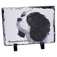 Tri-Col King Charles-With Love Photo Slate Christmas Gift Ornament