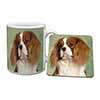 Blenheim King Charles Spaniel Mug+Coaster Christmas/Birthday Gift Idea