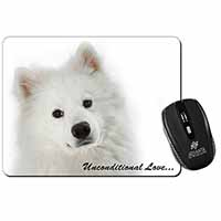 Samoyed Dog with Love Computer Mouse Mat Birthday Gift Idea