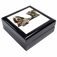 Italian Spinone Dog and Kittens Keepsake/Jewel Box Birthday Gift Idea
