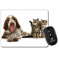 Italian Spinone Dog and Kittens Computer Mouse Mat Birthday Gift Idea