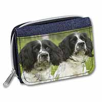 Springer Spaniel Dogs Girls/Ladies Denim Purse Wallet Birthday Gift Idea