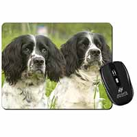 Springer Spaniel Dogs Computer Mouse Mat Birthday Gift Idea