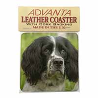 Springer Spaniel Dogs Single Leather Photo Coaster Perfect Gift